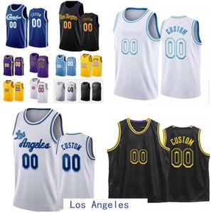 Hombres personalizados Mujeres Jóvenes Los Ciudad Angeles Team Anthony 3 Davis 23 Player 4 Caruso 15 Harrell Cualquier nombre Número Swingman Basketball Jersey
