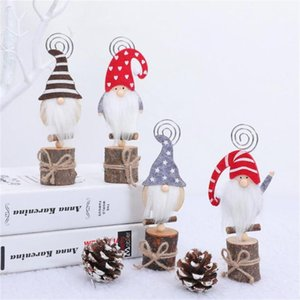 Christmas faceless doll business card holder wooden forest old man ornaments High-quality materials comfortable non-woven fabric