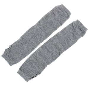 Fashion Women Lady Girls' Stretchy Soft Arm Warmer Long Sleeve Fingerless Gloves - Gray