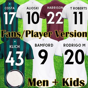 20 21 Jerseys de futebol Unidos 2020 2021 Ventiladores Versão do jogador Lufc Costa Alioski Klich Harrison Raphinha Homens Crianças Equipamentos de Futebol