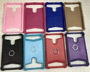 Universal Silicone Leather Tablet Pc Shockproof Case With Metal Ring Kickstand For Ipad Mini Samsung Galaxy Tab Huawei Mediapad 6 7 8 Inch