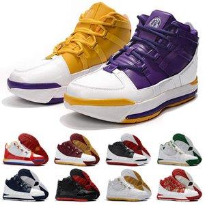 2021 Nova Chegada III 3 Home Superbron Mens Sapatos Ao Ar Livre Alta Qualidade Branco Azul Vermelho Vermelho 3S Sports Sneakers