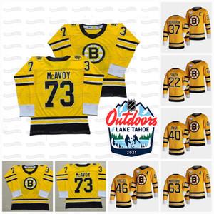 David Paston Boston Bruins Lake Tahoe 2021 Extérieur Sunday Revenir Retro Bobby Orr Charlie Coyle Ondrej Kase Marchand Krejci Rask Jersey