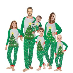 Family Matching Clothing Children Boys Girls Baby Mom Dad Christmas Pajamas Sets Pyjamas Kids Reindeer Chrsitmas Tree Sleepwear