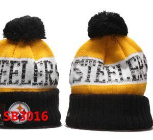 2020 Invierno de Nueva Inglaterra Beanie cráneo Steelers beanies sombreros para los hombres las mujeres de punto de lana Gorro de lana capó Gorros caliente del casquillo del cráneo del béisbol