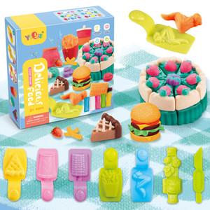 2020 Yeni Ürün Ebeveyn-Çocuk Erken Eğitim DIY Hamur Kurabiye Kalıp Gıda Çocuk Renk Kil Oyuncaklar
