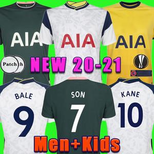 Erkekler + KIDS KIT 20 21 KANE SON BERGWIJN NDOMBELE Futbol Formalar 2020 2021 LUCAS DELE TOTTENHAM forması Futbol takımı forması LO CELSO ANA BALYA