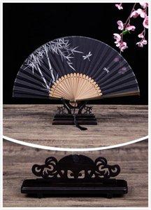 Titular do ventilador de mão Presente chinês Fan dobrável Fan Requintado Chinês Dobrável Prateleira Bambus Eventil Um Principal Vintage Bambu Home Decor