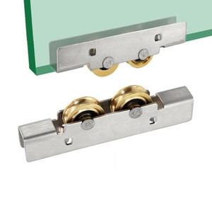 12mm Balcony window roller sliding glass door plastic steel window pulley shower room Concave wheel mute brass roller hardware part