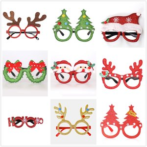 New Christmas Ornaments Adult Children's Toy Glasses Santa Claus Snowman Antler Glasses Christmas Decoration Glasses Free Shipping