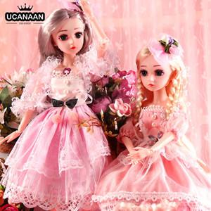 UCanaan BJD Boneca, 1/4 Dolls SD 18inch 18 junta articulada Dolls com roupa Outfit Sapatos composição do cabelo peruca melhor presente para as meninas 1011