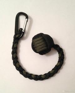 """Kostenloser Versand Monkey Fist Keychain 1 """"; Stahlkugel Selbstverteidigung, 550 Paracord Schlüsselanhänger Handcrafted in China!"""