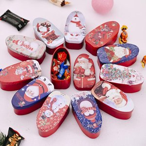 Natal caixas de biscoito Tinplate Caixa de Natal Biscoito Doce Caixa Crianças Caixas de presente Caixa dos desenhos animados estilo misto enviar KKB2775