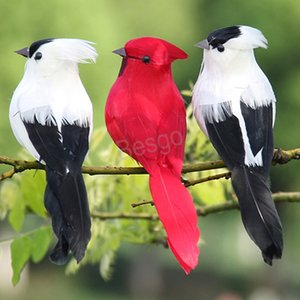 Garden Decor Artificial Bird Wedding Decor Artificial Feather Bird Gardening Plants Decor Emulational Birds Christmas Tree Birds BH4612 TQQ
