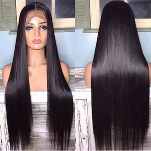 Lace Front Human Hair Wigs Straight Pre Plucked Baby Hair 13x4 150% Malaysian Remy Human Hair Wigs Lace Frontal Wigs For Women