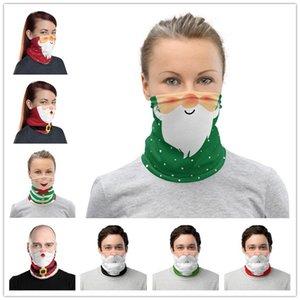 Décoration Visage Masque Multi Use UV Protection Shield visage Bandana écharpe magique Foulard Neck Gaiter Bandeau Visor Cadeaux de Noël DWE1186