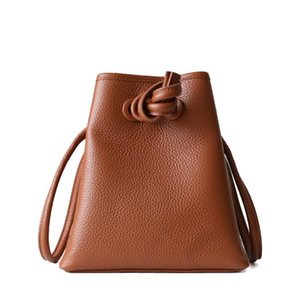 Women Designers Bucket Bags Genuine Leather Handbags Lady Crossbody Bags Shoulder Bag Head Layer Cowhide Litchi Drawstring Bucket Bag16 20CM