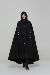 masculina de outono e inverno Europa, Estados Unidos e Coréia Segunda Guerra Mundial casaco capa de lã, bat masculino na moda casaco de lã tendência selvagem novo