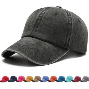 Tampão de beisebol lavado Chapéu de algodão puro Chapéu de cor snapback de rua adultos Ajustável Moda Sunscreen Sun Hat GWC5015