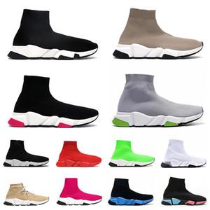 socks boots men women Top Designer de Tênis Speed Trainer Plataforma Meias Casuais Sapatos Baratos Novo Amarelo Preto Vermelho Marrom Azul Marinho Azul Marinho Homens