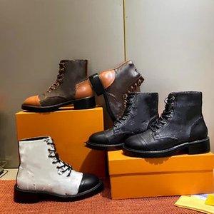 Martin bottes en cuir plat léger, plus velours de femmes brun petit haut épais mode moto bottes courtes semelles