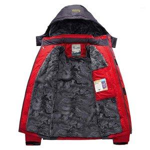 Открытый куртки зимний флис пеший туризм куртка водонепроницаемый ветрозащитный рыбацкий лыжный софтстой армии парку мужская женщина спортивная ветровка