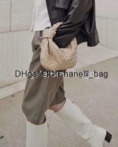 2020 Classic Hand Woven Leather Handbags Cloud Shape Evening Bags Chain Clutch Women Pouch Clip Handbag Crossbody Totes