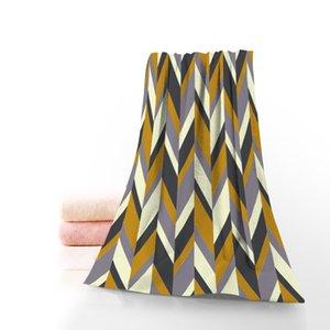 Geometric Patterns Chevron Towels Microfiber Fabric Bath Towels TravelBeachFaceTowel Custom Creative Towel 35X75cm 70X140cm