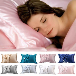48*74 Minimalism Muerry Silk Envelope Pillowcase Solid color pillow cover For Hair & Facial Sleep Antiage Soft European