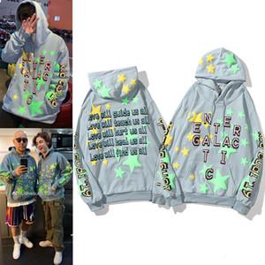 2020 hombres Hip Hop Kanye CPFM Kid Cudi Hoodie Cottom Sudaderas noctilucas Hombre Abrigos de invierno Sudaderas Sudaderas con capucha Mujeres Mens Designers Suéter con capucha