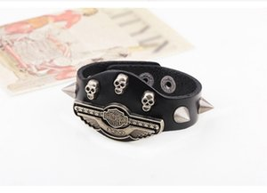 Men's Cowhide open gold plated bracelet 2020 high quality gift