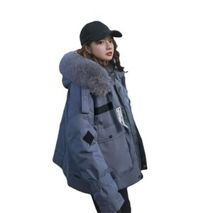 Chaqueta espesa de invierno coreano suelto algodón al acolchado de pan de peluche abrigo femenino de peluche mujeres Parka Outerwear Outered Wadding cremallera