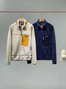 Patagonya Kalın Sıcak Klasik Retro-X Sonbahar Kış Çift Modelleri Kuzu Kaşmir Polar Ceket Erkekler Kadınlar Için 7448