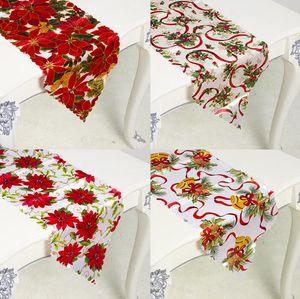 Xmas Party Flag Table Impressão de Natal Decoração de Natal poliéster Natal pano de tabela Suprimentos 35 * 180 centímetros AHB2592
