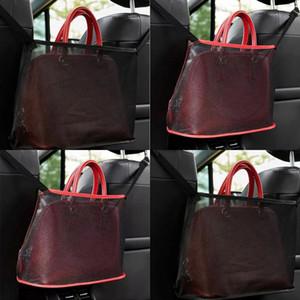 2 colores bolsas plegables Paños de malla Silla de coche Bolsillo neto bolsas reticulares Red Black Polygons Multi Function 7 5kn L2