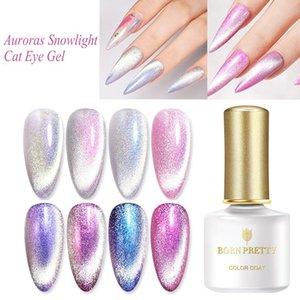 BORN PRETTY Magnetic Gel-Nagellack 6ml Cat Eye Gel Auroras Snowlight-glänzendes tränken weg von UV-Basis Top Coat Nail Art Lack