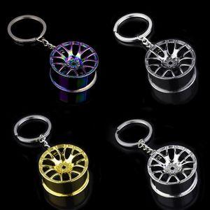 سيارة عجلة محور الحلي الاطارات التصميم سيارة مفتاح حلقة السيارات تعديل أجزاء جودة عالية مصغرة معدنية المفاتيح الميكانيكية
