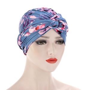 stampa di cotone Trendy muslim turban sciarpa per le donne islamiche del hijab tappi interni involucro arabo testa sciarpe femme musulman turbante