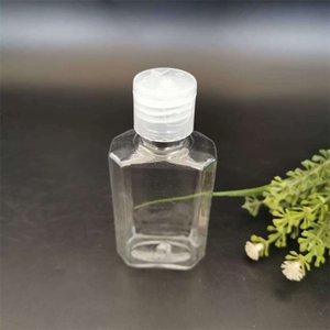 Leere Hand Sanitizer Flasche transparent Kunststoff achteckige Lotion Flaschen 60ml Haustier wiederverwendbar Portable Outdoor-Abfüllung Neue Ankunft 0 32kd G2