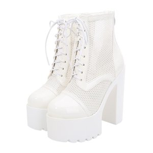 Boots PRETO BRANCO 2021 Hollow Chunky Heel Women Sandals Waterproof Platform Nightclub Stage Performance Shoes ZYW-831-9