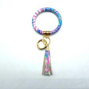 Good Tassel Charms Bangles Key Buckle PU Leather Wrap Wristbands 2020 women fashion accessories Bracelet Ring