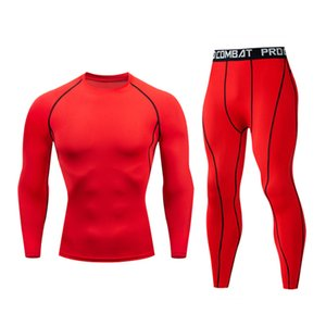 New men's sportswear fitness compression suit sportswear jogging suit muscle exercise tights MMA quality suit 1004