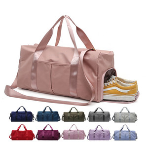 Dry Wet Separated Sport Gym Duffle Holdall Training Yoga Travel Overnight Weekend Shoulder Tote Bag with Shoes Compartment Customs Data Hot
