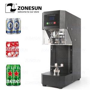 Latas ZONESUN máquina de sellado de la botella de 55mm bebida sellador de la botella café Can sellado de la máquina de bebidas que capsula 220V