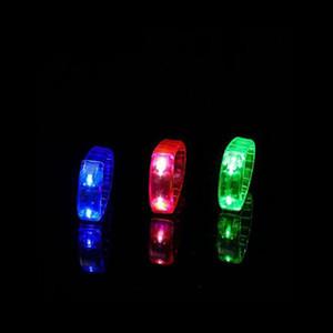Luminous LED Bracelet Sound Controlled Light Up Bracelet Activated Glow Flash Bangle For Festival Party Concert Bar VT0108