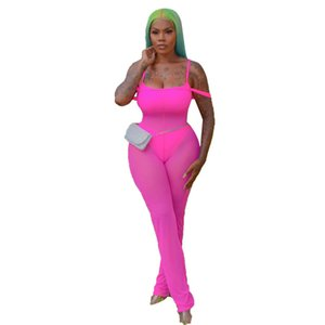 Sexy Womens Sheer Mesh Pagliaccetti Fashion Soild Color Designer Womens Tute StopGhetti Strap Womens Tre set