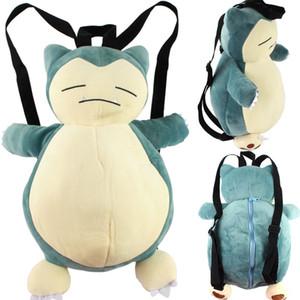 45cm Anime-Karikatur Snorlax Plüsch-Rucksack-Multi-Funktions-Schulter-Beutel-Mädchen-Handtasche Geburtstags-Geschenke für Kinder