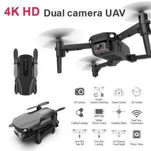 Drone New 4k R16 HD double objectif Mini Drone WiFi 1080p en temps réel Transmission FPV 2.4G 4CHDrone Follow Me Pliable RCQuadcopter Toy