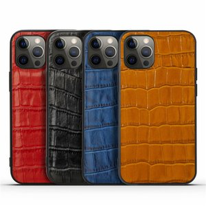 Luxury Crocodile Pattern Cable Case для iPhone 12 11 Pro Max 7 8 плюс мода с карточной сумкой задняя крышка для iPhone X XR XS MAX