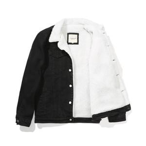6xl Cowboy Winter Jean Vestes de jean chauds Denim Manteaux de Vêtements d'extérieur Hommes de grande taille Doublure en laine épaissie Sherpa Denim Vestes Vêtements